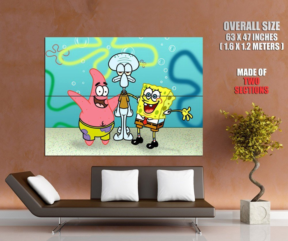 Sponge Bob Square Pants Patrick Star Squidward Tentacles Huge Giant Print Poster