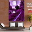 Fairy Purple Nature Moon Landscape Huge Giant Print Poster