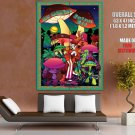 Les Claypool Mushroom Men Art Rock Music Huge Giant Print Poster