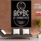 Ac Dc Let There Be Rock Music Huge Giant Print Poster