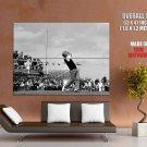 Jack Nicklaus Golf Bw 1985 Vintage Huge Giant Print Poster