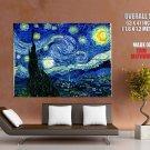 Vincent Van Gogh Starry Night 1889 Painting Fine Art Huge Giant Poster
