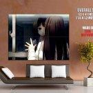 Beautiful Girl Long Hair Window Reflection Anime Art Huge Giant Poster