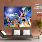 Hot Anime Babes Beach Volleyball Art Huge Giant Print Poster