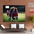 Fc Barcelona Champions League Football Huge Giant Print Poster
