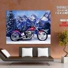 Chrome Chopper Cruiser Custom Bike Huge Giant Print Poster