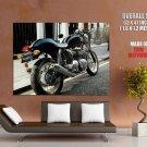 Triumph Thruxton Black Classic Bike Huge Giant Print Poster