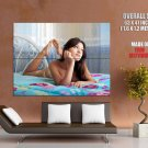 Topless Brunette Girl Sexy Legs Feet Huge Giant Print Poster