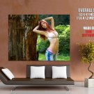 Sexy Redhead Girl Hot Bra Jeans Huge Giant Print Poster