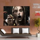 Original Sin Horny Wet Girl Snake Huge Giant Print Poster