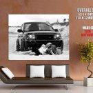 Hot Babes Car Range Rover Bw Lesbian Huge Giant Print Poster