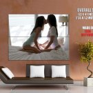 Sexy Kissing Girls Sheer Top Lesbian Huge Giant Print Poster