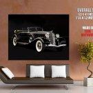 Chrysler Black Convertible Retro Car Huge Giant Print Poster