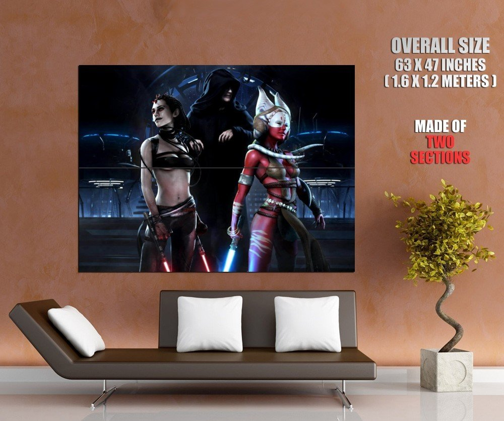 Star Wars Sith Jedi Hot Girls Fantasy Art Huge Giant Print Poster