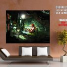 Cyberpunk Room Sexy Girl Fantasy Art Huge Giant Print Poster