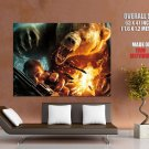 Grizzly Bear Revolver Fire Huge Giant Print Poster