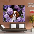 Beautiful Puppy Dogs Lilac Huge Giant Print Poster