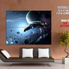 Space Craft Ships Asteroids Planet Huge Giant Print Poster