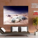 Overcast Planet Clouds Space Huge Giant Print Poster