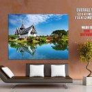 Asian Traditional House Lake HUGE GIANT Print Poster