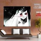 Black Eyes Blood Girl Anime Art Huge Giant Print Poster