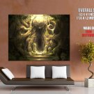 Ancient Forest Fantasy Art Abstraction POSTER