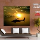 Helicopter Military Aircraft Sunset HUGE GIANT Print Poster