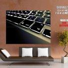 Black Keyboard Backlight Hi Tech Huge Giant Print Poster