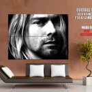Kurt Cobain Hot Bw Portrait Huge Giant Print Poster