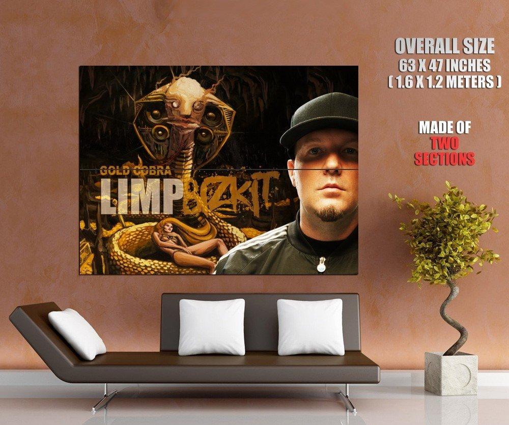 Fred Durst Limp Bizkit Rock Band Gold Cobra Huge Giant Print Poster