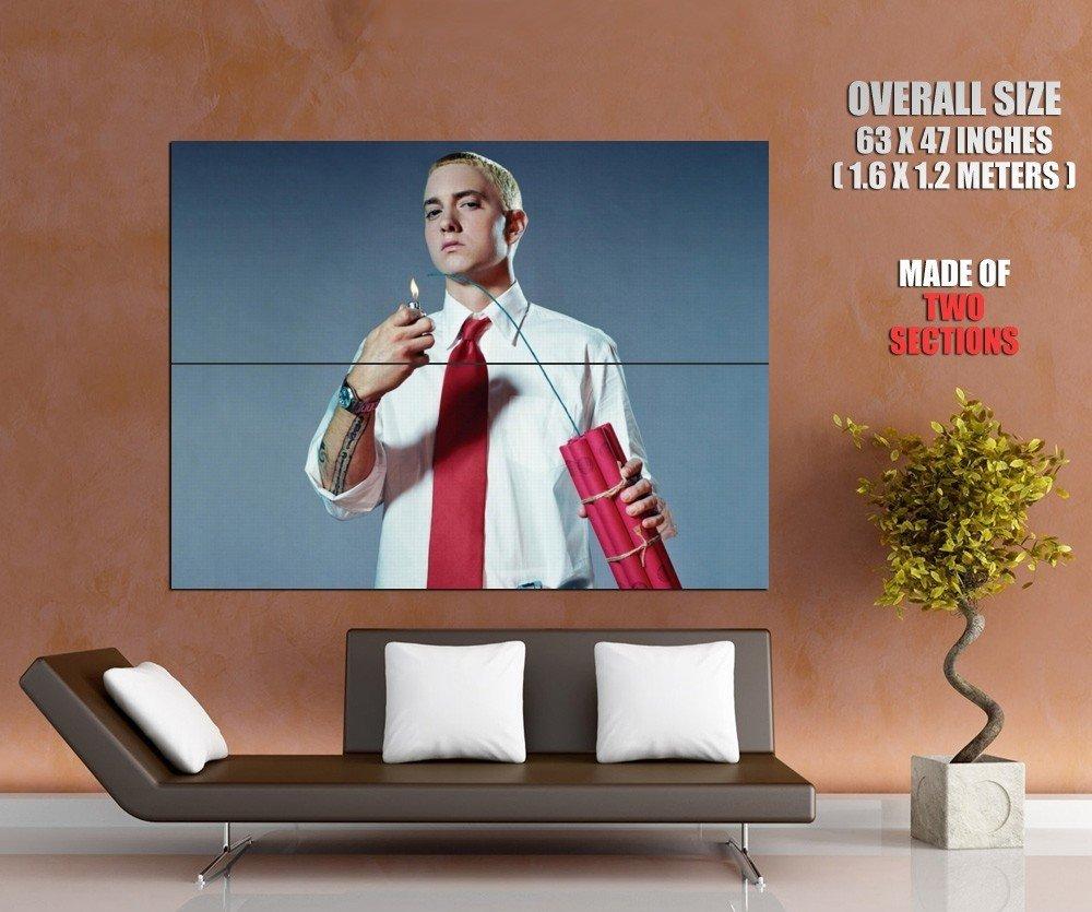 Actor Singer Rap Hip Hop Eminem Huge Giant Print Poster