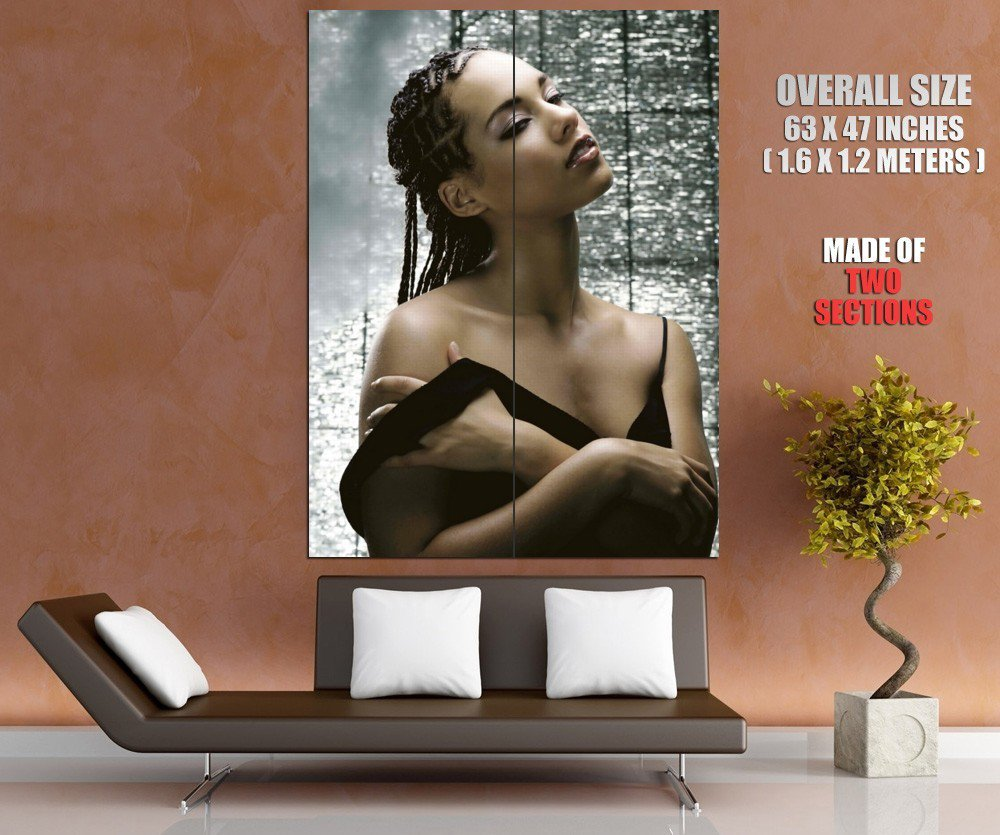 Singer Hip Hop Soul Blues Alicia Keys Huge Giant Print Poster