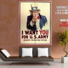 I Want You For U S Army Nearest Recruiting Station HUGE GIANT Print POSTER