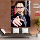 Robert Downey Jr Iron Man Actor Huge Giant Print Poster