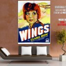 Wings Clara Bow Retro Movie Vintage Classic HUGE GIANT Print Poster