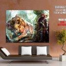 Beast Hunter Archer Arrows Painting Art HUGE GIANT Print Poster