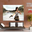 Lara Croft Tomb Raider Guns Painting Art HUGE GIANT Print Poster