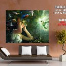 Beautiful Girl Mask Fantasy Birds Artwork HUGE GIANT Print Poster