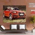Audi Q7 0 T Quattro Red Car Huge Giant Print Poster