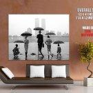 New York Skyline Rain Bw Photo Art Huge Giant Print Poster