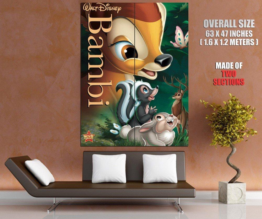 Bambi Animated Film Disney Art HUGE GIANT Print Poster