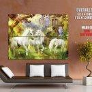 Fantasy Unicorns Fairy Art HUGE GIANT Print Poster