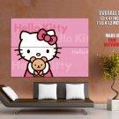 Hello Kitty Pink Cute Art Huge Giant Print Poster