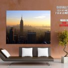 New York Sunset Empire State Building HUGE GIANT Print Poster