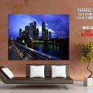 Night City Skyline Lights Cityscape HUGE GIANT Print Poster