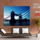London Tower Bridge UK Wind Cityscape HUGE GIANT Print Poster