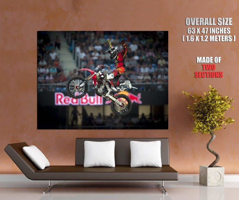 Red Bull X Games Nate Adams Jump Sport Huge Giant Print Poster