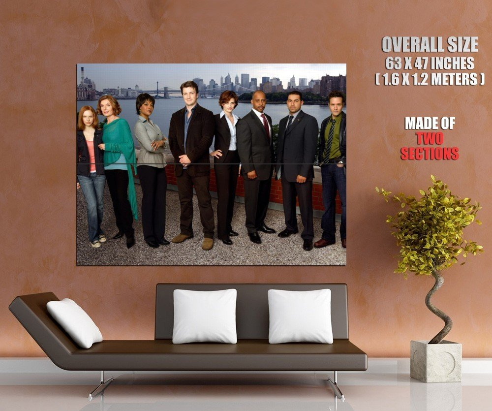 Castle Cast Characters Tv Series Huge Giant Print Poster