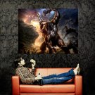 God Of War Kratos Cyclop Battle Video Game Huge 47x35 Print POSTER