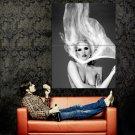 Lady Gaga Topless Singer Music BW Huge 47x35 Print POSTER